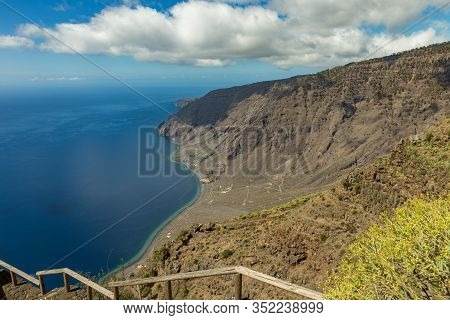 Mirador De Isora In El Hierro Island. Spectacular Views From The Point Above The Clouds. Canary Isla