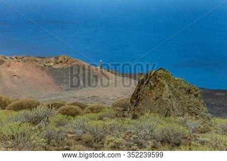 Volcanic Landscape Near Orchilla Lighthouse. Southwest Coast Of The El Hierro Island. Spain