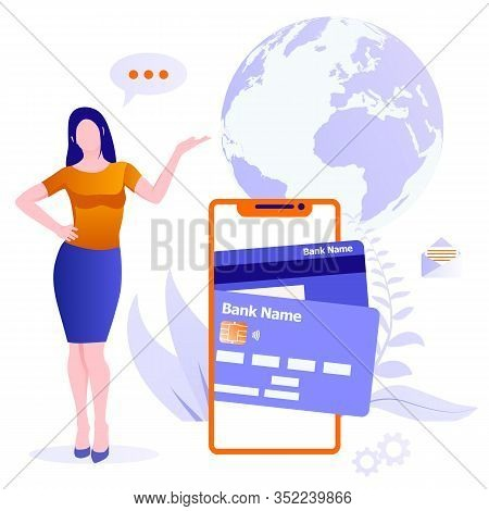 Concept Of Mobile Payments. Online Money Transfer Concept. Mobile Money Transfer Vector Illustration