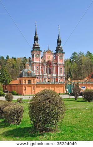 the famous Church of Swieta Lipka in Masuria, Poland poster