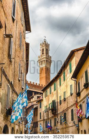 Walking In The Streets Of Siena, Italy