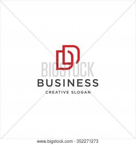 Monogram Letter D D Logo, Linked Two Capital Letters D And D Emblem . Linear Minimal Style