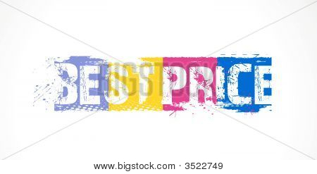 Vector illustration of best price - over a white background.. poster