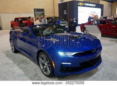 Philadelphia, Pennsylvania, U.s.a - February 9, 2020 - The Brand New 2020 Chevy Camaro Convertible I