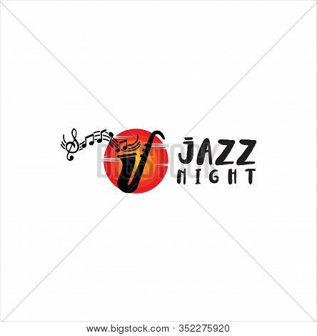 Jazz Music Logo . Modern Professional Sign Logo Jazz Music . Saxophone Logo Vector Illustration Desi