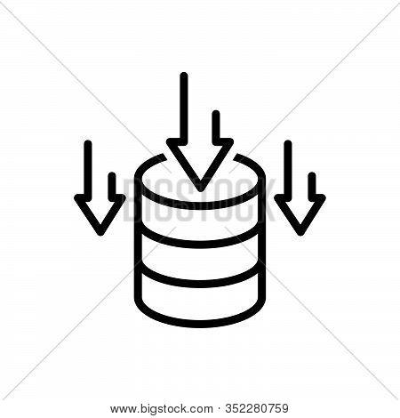 Black Line Icon For Data-storage Data Storage Stock  Stockpile Storehouse Deposit Repository Databas