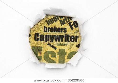Copywriter Paper Hole