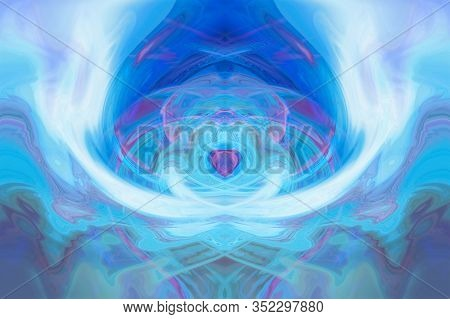 Illustration Background Fractal Abstract Artwork. Abstract Background With Pastel Colors. Abstract F
