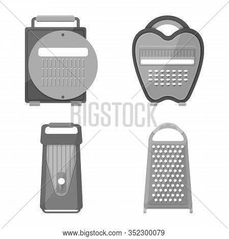 Vector Illustration Of Kitchenware And Household Logo. Set Of Kitchenware And Tableware Vector Icon