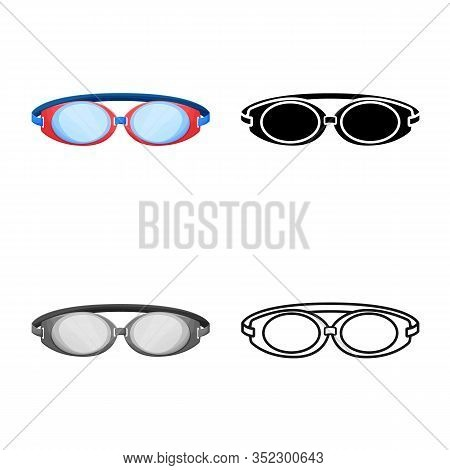 Vector Design Of Glasses And Eyewear Icon. Web Element Of Glasses And Eyewear Vector Icon For Stock.