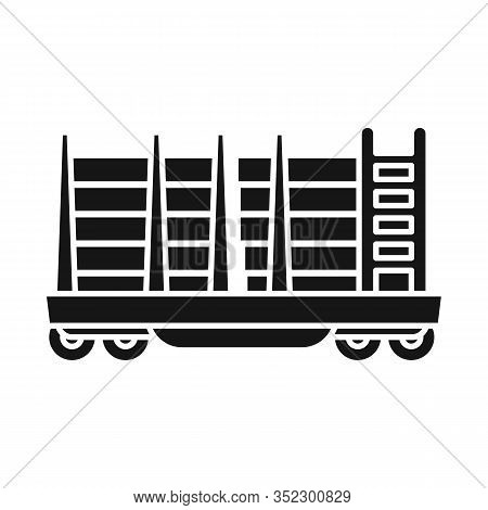 Vector Design Of Wagon And Container Icon. Graphic Of Wagon And Transportation Vector Icon For Stock