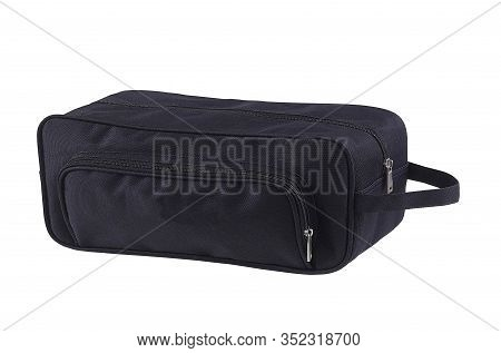 Black Bagage Isolated On A White Background