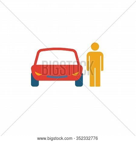 Car Driver Icon. Simple Element From Transport Icons Collection. Creative Car Driver Icon Ui, Ux, Ap