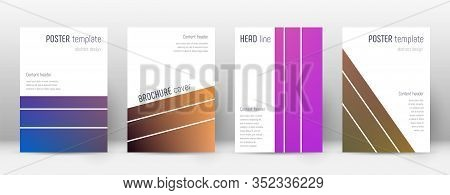 Flyer Layout. Geometric Enchanting Template For Brochure, Annual Report, Magazine, Poster, Corporate