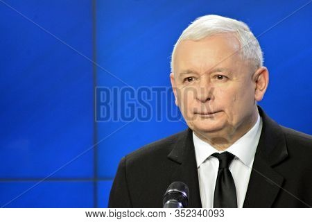 Warsaw,poland. 6 November 2018..leader Of Polands Ruling Party Law And Justice, Jaroslaw Kaczynski,a