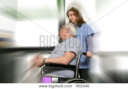 Nurse And Patient Blured