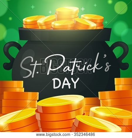St. Patricks Day Card. Promotion Banners Square Shape On Theme Patricks Day. Design Of Advertising I