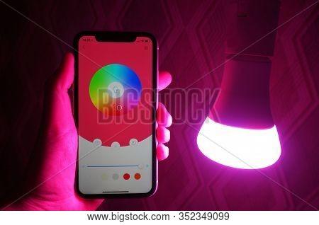Multi-colored Rgb Electric Lamp. Multi-colored Rgb Electric Lamp