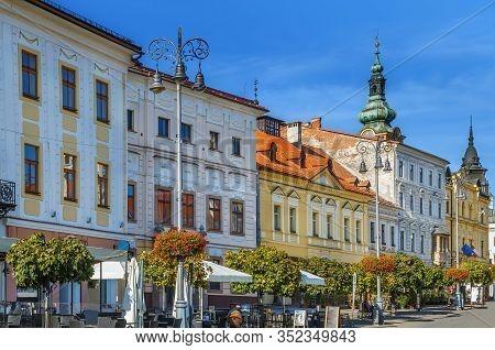 Slovak National Uprising Square Or Snp Square Is Main Square In Banska Bystrica, Slovakia