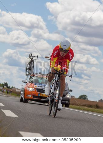 The Spanish Cyclist Luis-leon Sanchez