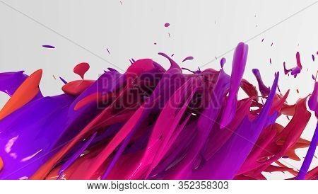 Colorful Liquid Color Background Design. 3d Rendering