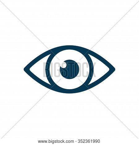 Eye Icon Vector Isolated On White Background
