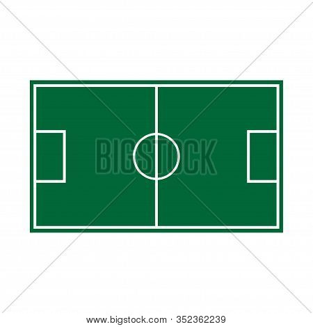 Football Field Icon Isolated On White Background. Vector Illustration