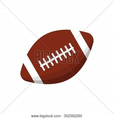 American Football Ball Icon Isolated On White Background. Vector Illustration
