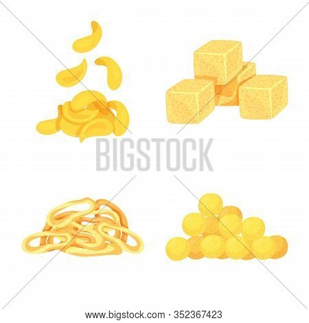 Vector Illustration Of Food And Crunchy Icon. Collection Of Food And Flavor Stock Symbol For Web.