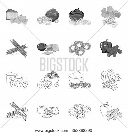 Vector Illustration Of Taste And Seasonin Symbol. Collection Of Taste And Organic Stock Symbol For W