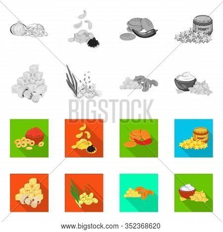 Vector Design Of Taste And Seasonin Icon. Collection Of Taste And Organic Vector Icon For Stock.