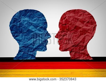 Germany Far Left And Far Right Wing Political Concept As A Berlin And German Political And Europe So