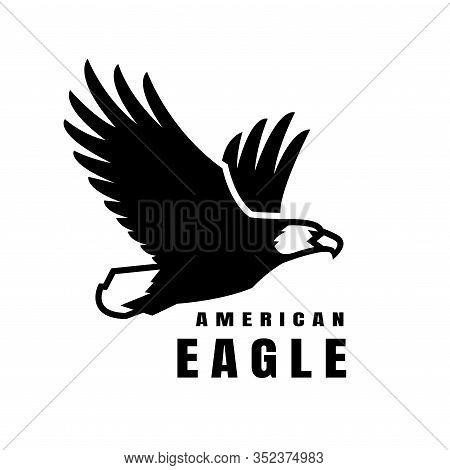 American Eagle. Flying Bird Logo, Simbol. Vector Illustration.