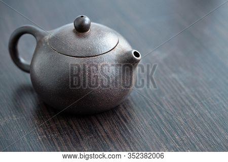 Old Purple Yixing Clay Chinese Teapot Yuan Zhu Hu Type For Tea Ceremony Or Gong Fu Cha Or Kung Fu Te