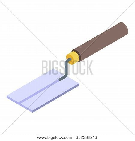 Tiler Trowel Icon. Isometric Of Tiler Trowel Vector Icon For Web Design Isolated On White Background