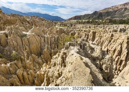 Valle de la Luna in La Paz,Bolivia. Unusual natural landscapes beautiful place travel