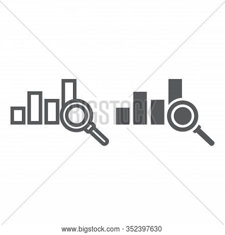 Analyse Line And Glyph Icon, Business And Strategy, Graph Sign, Vector Graphics, A Linear Pattern On