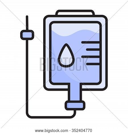 Dropper Vector Icon For Medical Website, Infographic. Container With An Antibiotic, Saline For Intra