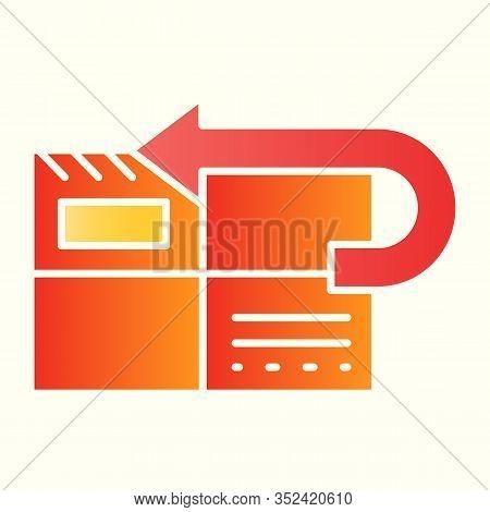 Return To Sender Line Icon. Returned Mail, Envelope With Curved Arrow. Postal Service Vector Design