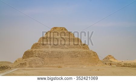 The Pyramid Of Djoser Or Djeser And Zoser, Or Step Pyramid Is An Archaeological Remain In The Saqqar