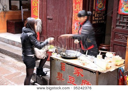Chinese Street Food Purchase