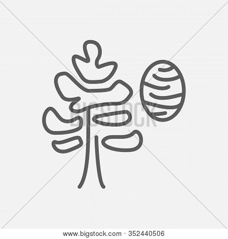 Cedar Icon Line Symbol. Isolated Vector Illustration Of Icon Sign Concept For Your Web Site Mobile A