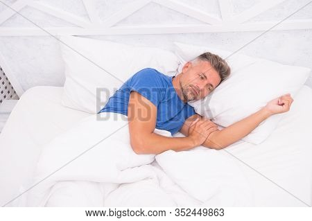 Perfect Morning Awakening. Better Sleep Better Life. World Sleep Day. Benefits Of Good Healthy Sleep