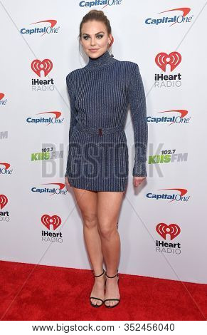 LOS ANGELES - DEC 06:  Hannah Brown arrives for the KIIS FM Jingle Ball 2019 on December 06, 2019 in Los Angeles, CA