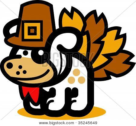 Dog Clipart Thanksgiving Turkey
