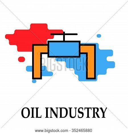 Oil Factory Icon Valve Symbol Oil And Petrol Industry Modern Bright Color.fuel, Diesel, Petrol, Gas.