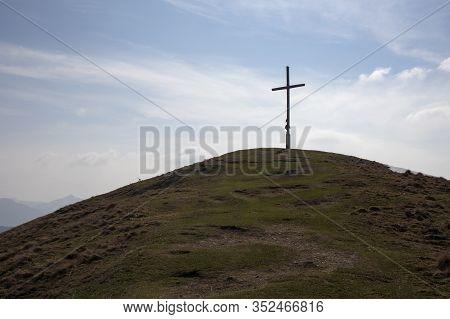 Summit Cross On Mountain Zwieselberg, Bavaria, Germany