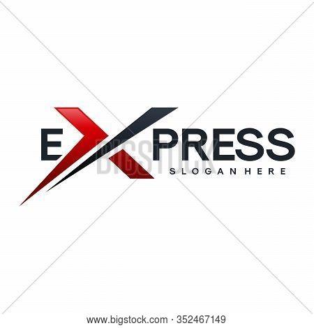 Fast Forward Express Logo Designs Vector, Modern Express Logo Template, Express Logo With Rocket Sym