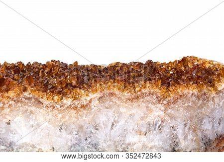 Citrine Mineral Close Up. Gemstone Bright Background