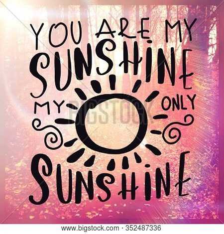 Inspirational Quote with pathway background - You are my sunshine my only sunshine